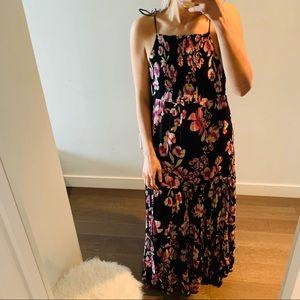 NWT Free People Black Floral Maxi Dress
